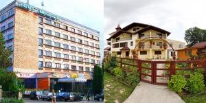 In stanga, Hotel Muscelul iar in dreapta, Complexul Turistic Flora.